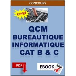 Cours et QCM d'informatique pour les concours catégorie B et C