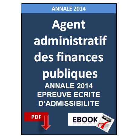 Agent  administratif  des finances  publiques Annale 2014
