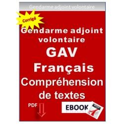 Gendarme adjoint volontaire (GAV) Exercices et tests de français pour la préparation du concours.