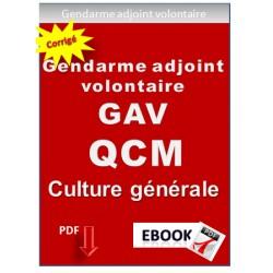QCM de culture générale. Concours de Gendarme adjoint volontaire GAV