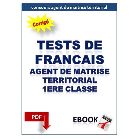 Exercices corrigés de français. concours agent de maitrise territorial
