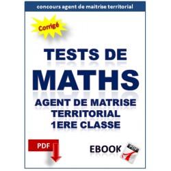 Mathématiques. Exercices corrigés pour le concours d'agent de maîtrise territorial