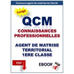 QCM CONNAISSANCES PROFESSIONNELLES. CONCOURS AGENT DE MAITRISE TERRITORIAL