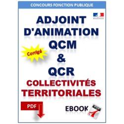 Adjoint d'animation. QCM et QCR fonctionnement des collectivités locales