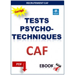 Tests psychotechniques recrutement de la CAF (Caisse d'allocations familiales)