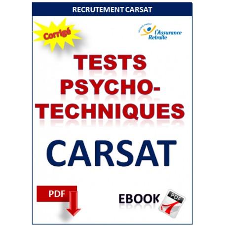 Tests psychotechniques recrutement CARSAT