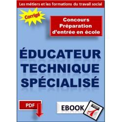Éducateur technique spécialisé - Préparation au concours d'entrée en école d'