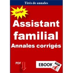 Assistant familial - Annales corrigés