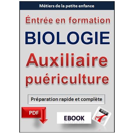 BIOLOGIE Auxiliaire puériculture - Concours d'entrée en formation