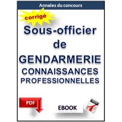 Sous-officier de gendarmerie. Concours annale  connaissances professionnelles