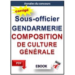 Annales sous-officiers de gendarmerie. L'épreuve de composition