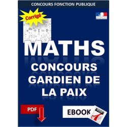 Mathématiques Concours gardien de la paix