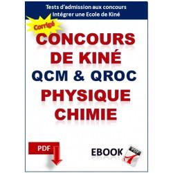 Concours Masseur-Kinésithérapeute. QCM de physique et chimie corrigés.