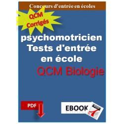 Concours de psychomotricien. QCM biologie.