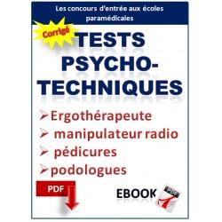 Tests psychotechniques. concours d'ergothérapeute, manipulateur radio, pédicures podologues,