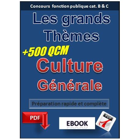 La CULTURE générale aux concours de la fonction publique de catégorie B et C