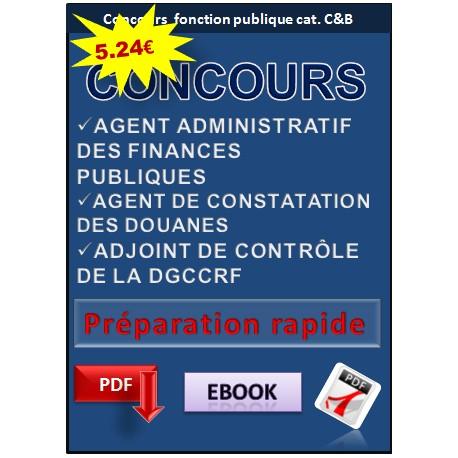 Préparation aux concours DGCCRF, agent des douanes et des finances.