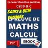 Epreuve de maths. Aptitudes numériques. Concours catégorie B & C