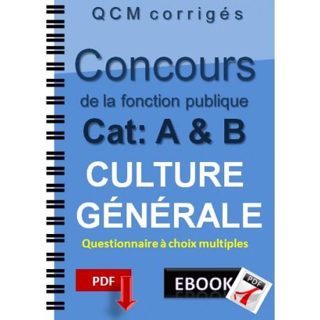 La culture générale aux concours de la fonctin publique, catégorie A&B