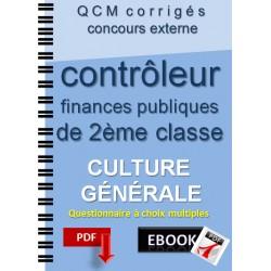 Culture générale au concours externe de contrôleur des finances publiques de 2ème classe