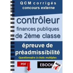 Préparation concours externe de contrôleur des finances publiques de 2ème classe