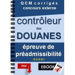 Préparation concours contrôleur des douanes DGDDI