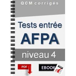 Tests entrée AFPA niveau 4