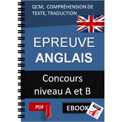 Epreuve d'Italien Concours niveau A et B QCM,  COMPRÉHENSION DE TEXTE, TRADUCTION