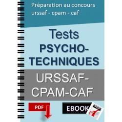 Préparation au tests psychotechniques. Recrutements urssaf-cpam-caf
