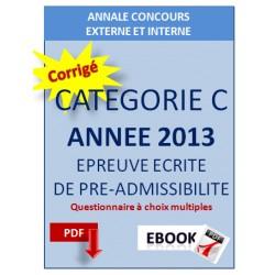 Annales 2013 concours commun cat. C