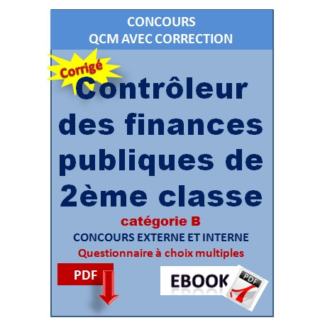 Contrôleur des finances publiques de 2ème classe. Concours