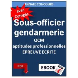 Sous-officier de la gendarmerie QCM épreuves d'aptitudes professionnelles