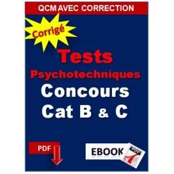 Tests psychotechniques pour concours de catégorie B et C