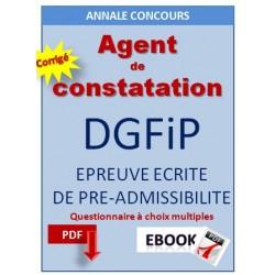 Annale  200 QCM corrigés  pour le concours DGFIP cat C.