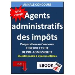 Agents administratifs des impôts. Annale corrigé