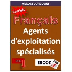 Agents d'Exploitation spécialisés, épreuve français