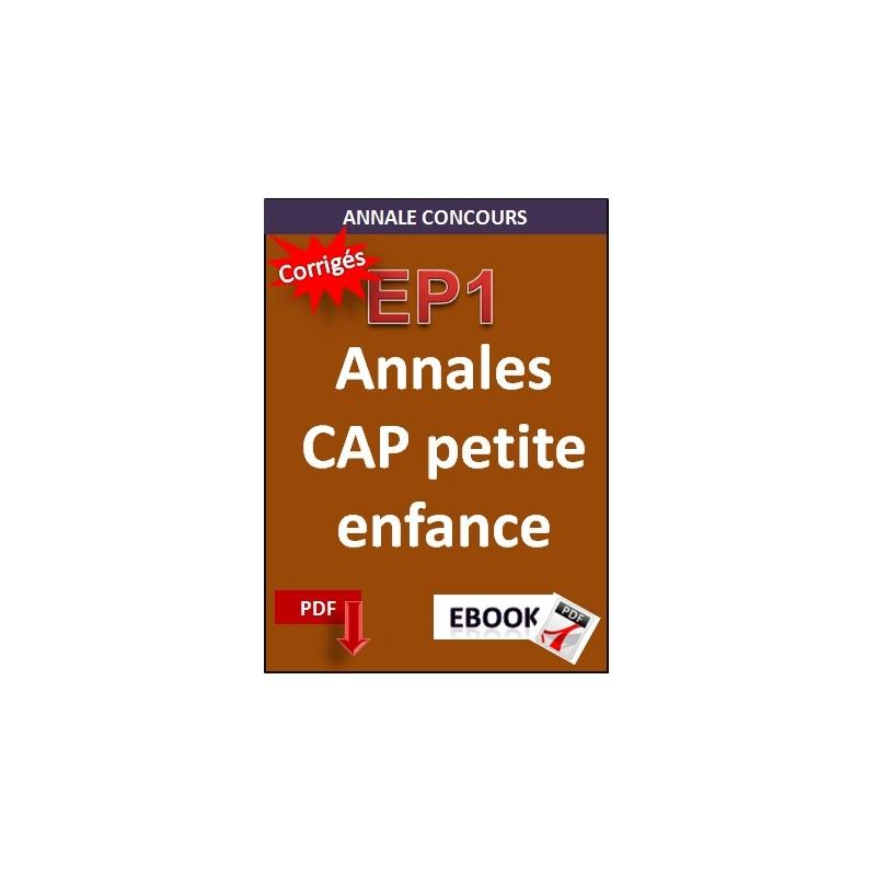Cap petite enfance annales for Annales cap cuisine