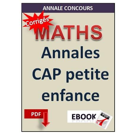 Annales CAP petite enfance Matématiques