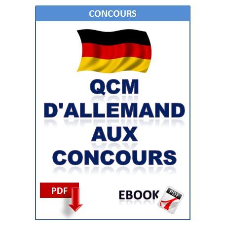 Qcm allemand aux concours