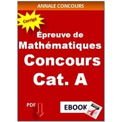 Mathématiques Concours des catégories A et B