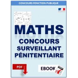 Mathématiques. Concours de surveillant pénitentiaire.
