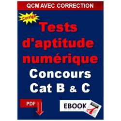 Tests d'aptitude numérique pour concours catégorie B et C