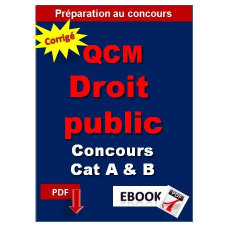 QCM de droit public pour les concours catégorie A et B