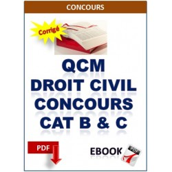 QCM de Droit civil pour la préparation au concours catégorie A,B et C