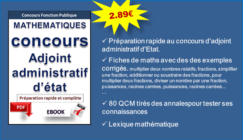 Mathématiques. Adjoint administratif d'Etat.