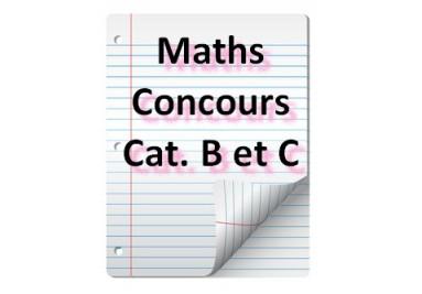 QCM de maths pour concours cat. B et C