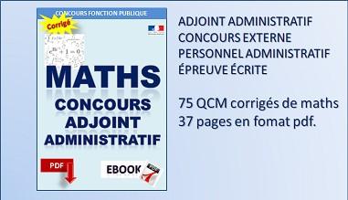QCM Mathématiques au concours d'adjoint administratif