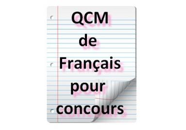 Exercices de français, questionnaires à choix multiples ...