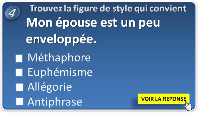 Test Les figures de style ou figures rhétorique. Trouvez ...